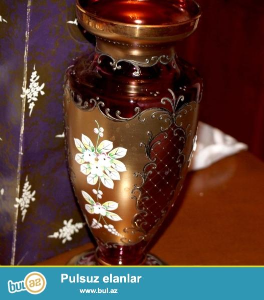 Çexiya istehsalı olan bogema gül qab. 1990 cı ildə Çexiyadan alınıb...