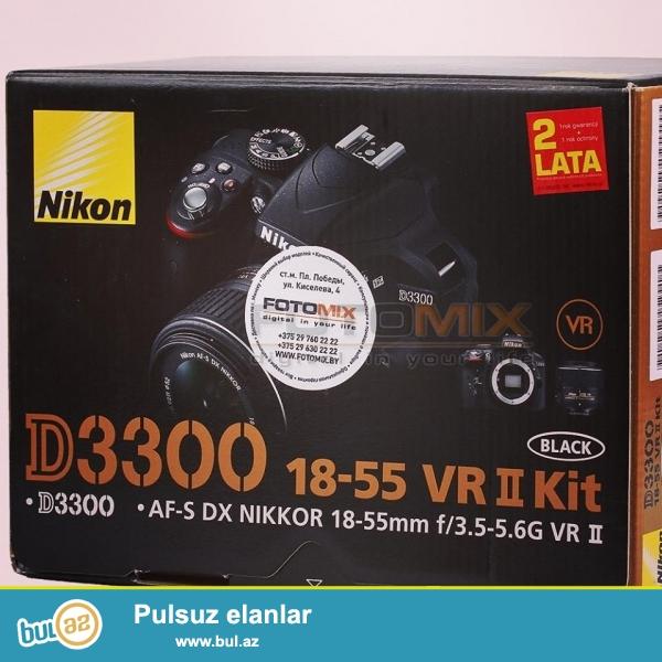 В наличии<br /> <br /> Nikon D3300 kit 18-55mm VR<br /> пробег: 0<br /> <br /> Цена : 550AZN<br /> <br /> Контактный номер : (055) 707 60 61