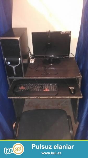 VIP perdeler, Stol Stul, LG monitor ( sensor) , Komputerler Ela Veziyyetdedir! <br /> Ram - 2 <br /> Videokart <br /> HDD -160 <br /> 1 Ay Garanti !!!