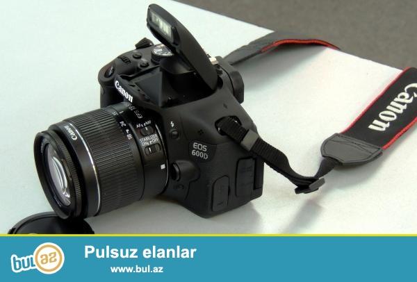 Canon EOS 600D Kit (18-55mm) satıram.Çox az işlənib...