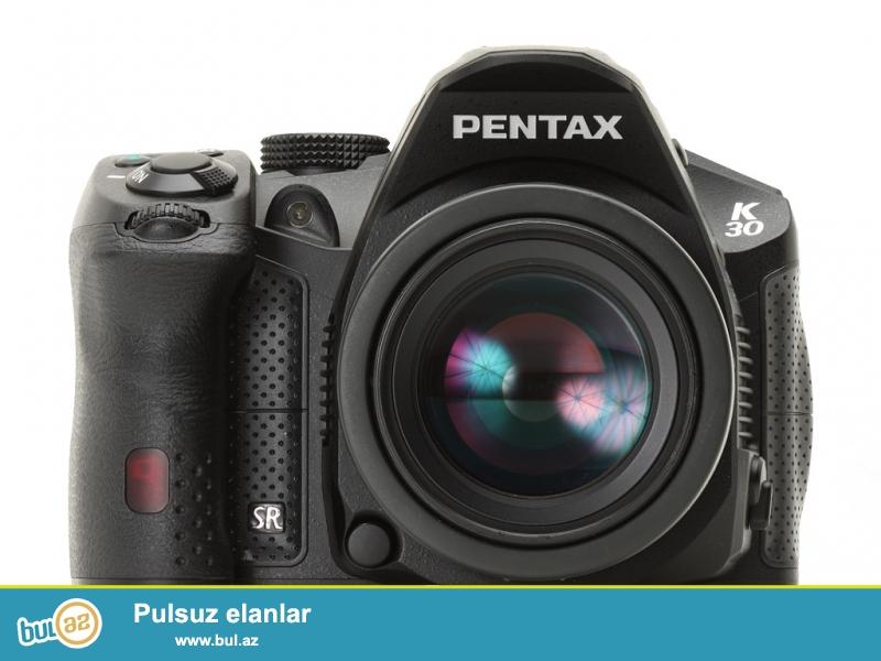 Fotoqraflıqa yeni başlayanlar üçün və ya əlava foto kamera almaq istəyənlər üçün ideal kamera olan Pentax K30 - 700 Manata satılır<br /> <br /> Pentax K30 suya və toza dayanıqlı olan bir kameradır...