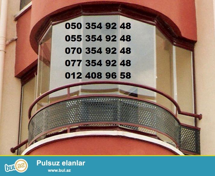 cam balkon 070 354 92 48  Europen firmasi alman texnalogiyasi ile turk mallarindan hazirlanan xususi, mohkem (temperli- закаленное стекло) ve zerbeye davamli balkonlarin qurashdirilmasini teklif edir