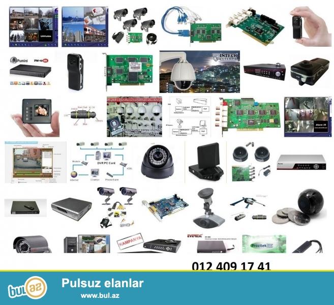 Kameraların satışı, quraşsırılması, İT və elektrik işlerı.