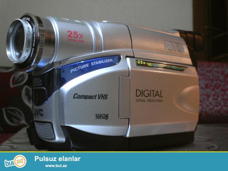 AZ islenmis JVC kamera satilir.Butun aksesuarlari qaydasindadi...