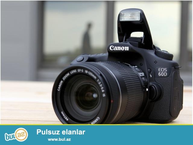 Canon 60 D 18-135 mm obyektivle satilir. ustunde canta ve 8gb yaddaw karti da verilir...