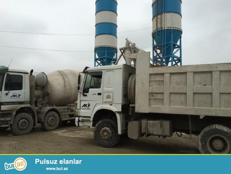 """Hörmətli müştərilərimiz,Akif İnşaat"""" MMC sizə öz yüksək səviyyəli beton daşınmasını təklif edir..."""