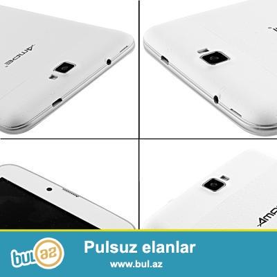 """YENİ ORİFİNAL 2 NÖMRƏLİ PLANŞET TELEFON.<br /> ÇATDIRILMA PULSUZ<br /> Növü:Planşet<br /> Yaddaş tutumu:4GB<br /> Şəbəkələr:Bluetooth,Wifi<br /> Ekran ölçüsü:7""""<br /> Portlar:3G Xarici,DC port,Qulaqcıq port,OTG port ,TF kart port,USB port<br /> Brand:Ampe<br /> Qutusu:Var<br /> Çəkisi:290g<br /> Dil:English,Russian,Spanish,Swedish,Portuguese,Turkish,Italian,German,Chinese,French,Japanese,Polish,Ukrainian,Greek,***rew<br /> Kamera:2 kamera<br /> Processor:Dual Core<br /> Digər funksialar:GPS,Taç ekran,G Sensor,Zəng,OTG<br /> Ram:512MB<br /> Arxa kamera:3MP<br /> Sistem:Android 4..."""