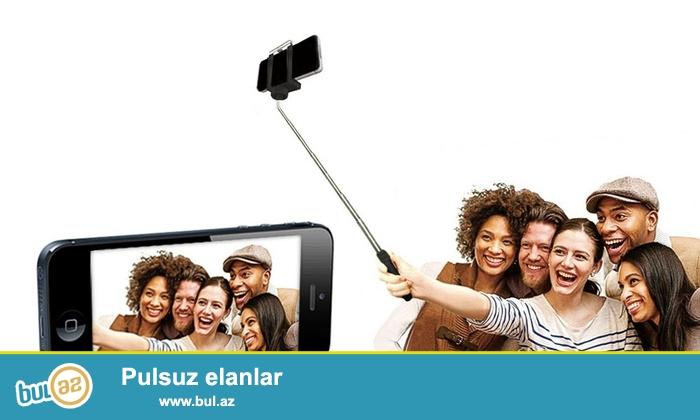 Selfie monopodlar. Komplektde selfie monopod, telefon uchun basliq, pult verilir...