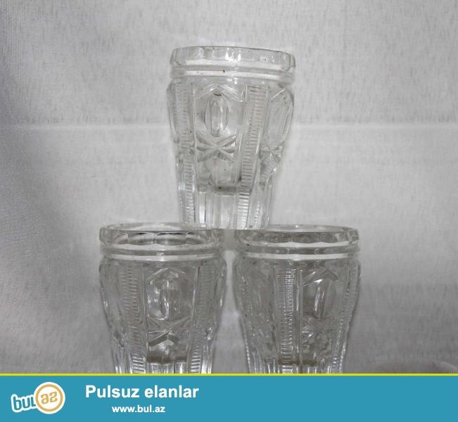 Çexiya istehsalı olan büllur badələr. 1970 ci ildə alınıb...
