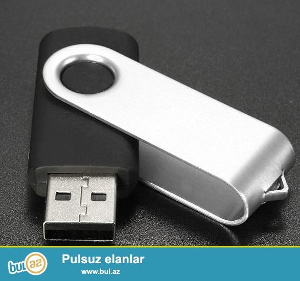 Metal qapaqlı USB Flash Card - 32 GB Rəng: Qara<br />