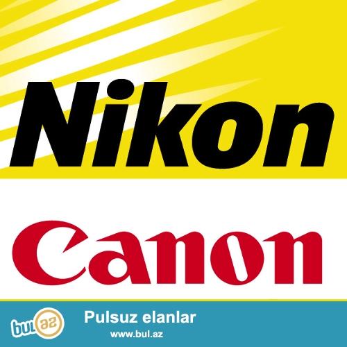 Canon Nikon adapterler ve batareykalar. Her nov fotokamera ucun...