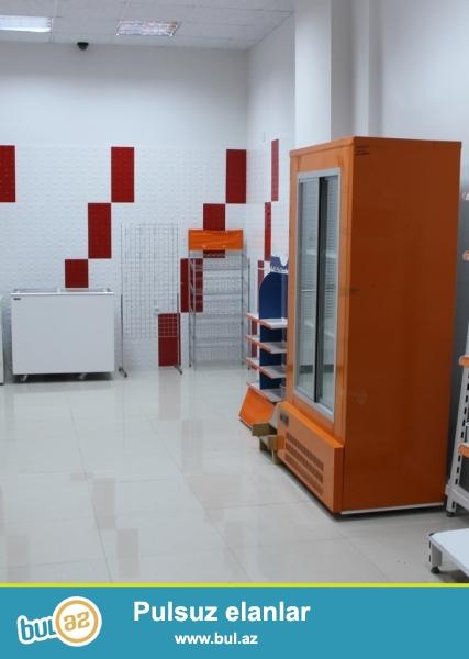 Market bağlandığına görə avadanlıqlar satılır <br /> Dondurucu - 250AZN, <br /> Soyuducu ət üçun - 1000AZN, <br /> Seyf - 500AZN, <br /> Siqaret polkası - 50AZN, <br /> Vitrin (rəflər)- 2x2 700AZN