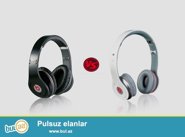 Salam Aleykum.<br /> <br /> Beats Audio<br /> <br /> Solo   -15 azn          (orta keyfiyyet)<br /> Studio -20 azn          (orta keyfiyyet)<br /> Studio -130azn          (original)<br /> Studio Wireless -150azn (original)<br /> <br /> Her nov aksesuarlar var<br /> <br /> instagram (_aksesuar...