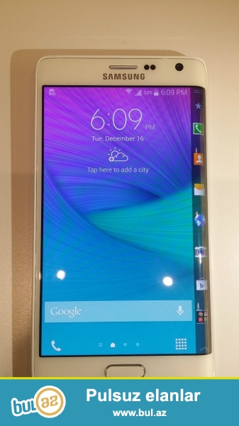 Samsung Galaxy Ağ Edge 4G (Unlocked) Smartphone Qeyd<br />