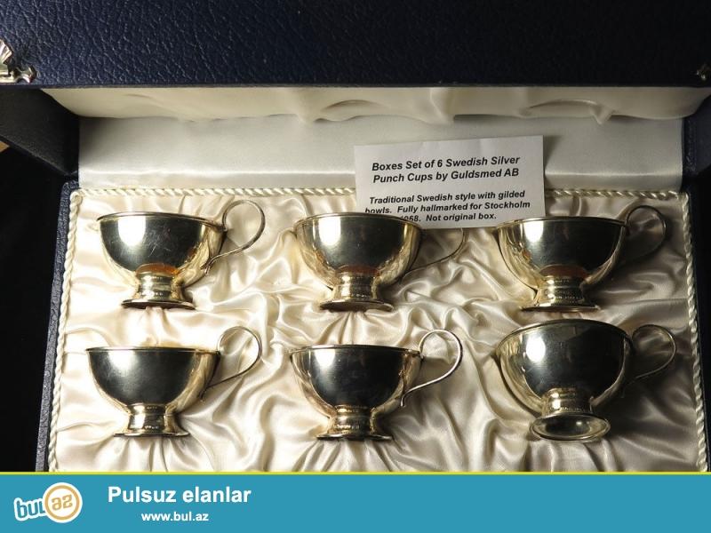 Gümüş 830 prob<br /> Miqdarı - 6 əd. <br /> Gümüş fincan -...