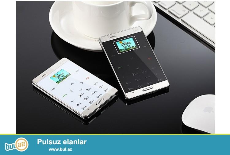 YENİ<br /> Original AIK M9 Ultra nazik taç klaviaturalı vizit kart boyda telefon<br /> QEYDİYYAT OLUNUB!<br /> <br /> Marka: AIK<br /> Model: M9<br /> Sim Card: 1 nömrə<br /> İş Tezlik:: GSM 900 / 1800MHz (<br /> Ekran: 1...
