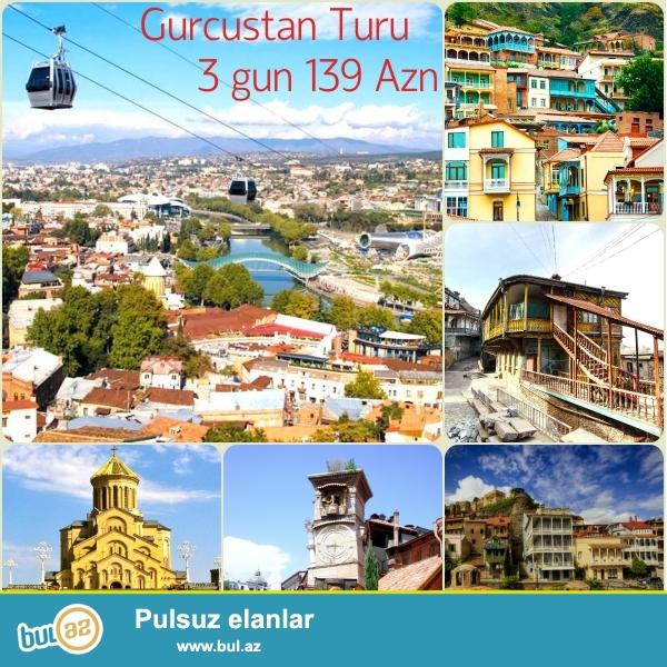 Gürcüstan Turu 3 gunluk – 139 azn<br /> -18-20 Aprel<br /> -Tbilisi - Mtsxeta <br /> Tura daxildir <br /> - Otel ( 2 gecə)<br /> - Otelde Seher yemeyi<br /> - Transfer( Baki -Tiflis-Baki) Tiflisde daxili transferler...
