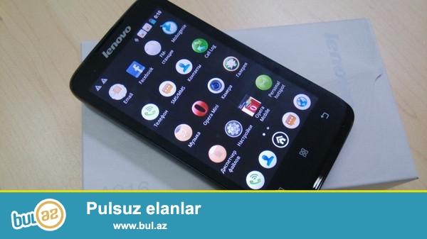 Yeni Lenovo A316 Duos satiram tezedi zakaznan gelib 1heftenin telefonudu hec islenmiyib ekran uzluyu soyulmuyub hec herseyi var qiymeti sondu asaqi yeri yoxdu 80azn  Barter ederem eger bu telefon kimi yeni telefon olsa karopkasi senediynen birlikde onda barter mumkundu <br /> <br /> Emeliyat sistemi Android 4-4 Google play <br /> Wifi blutuz var <br /> Yaddaş: 512 MB RAM, 4GB ROM<br /> <br /> Yaddaş kartı 4GB <br /> Yaddaş kartı növü: microSD, 32 GB maksimum gücü <br /> <br /> 3G destekliyir Standard və frekans üçündür Lenovo A316 GSM: GSM 850 GSM 900 GSM 1800 GSM 1900 3G: WCDMA WCDMA - Version: UMTS 900/2100<br /> <br /> Lenovo 316 ismaric <br /> SMS <br /> MMS<br /> WAP <br /> Browser <br /> E-mail-client<br /> GPRS <br /> EDGE <br /> HSPA <br /> versiyası HSPA: HSDPA, HSUPA<br /> USB <br /> versiyası USB: Micro USB 2...