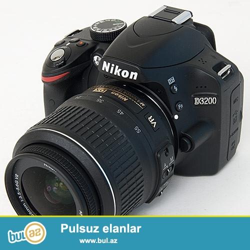 SATILIR: Nikon D3200 Probeg 1500den azdi<br /> Nikon AF-S DX 18-55mm f/3...