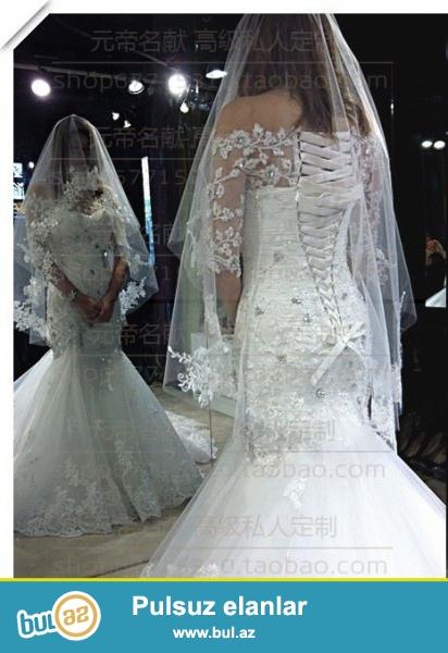 Свадебное платье-русалка королевского типа с большим шлейфом коллекции 2014-2015, одето 1 раз, в отличном состоянии...