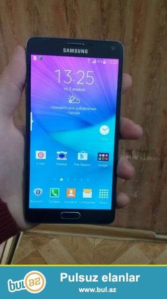 Samsung Note 4 telefonu satilir 3 aydi isledilir..Seliqeli isledilib ela veziyyetdedi islenmis olsada teze kimidir...