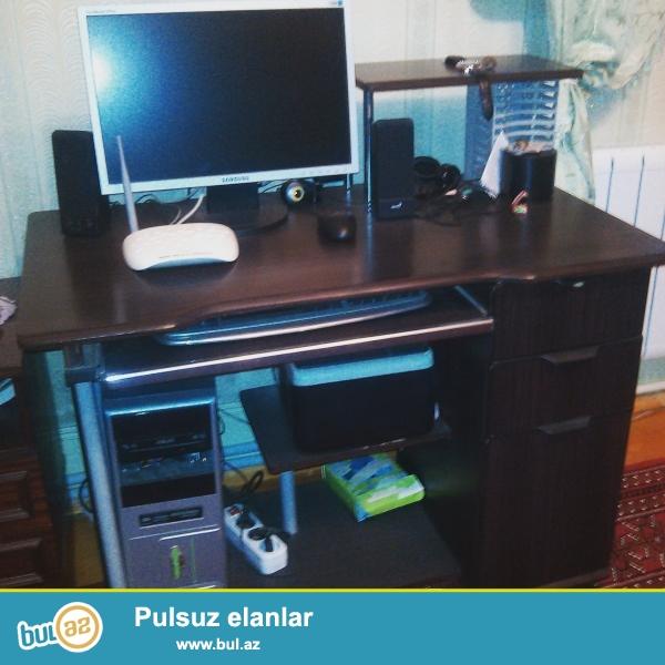 Stolustu Komputer.Skaner,Printer,Qulaqciq,Veb Kamer var.