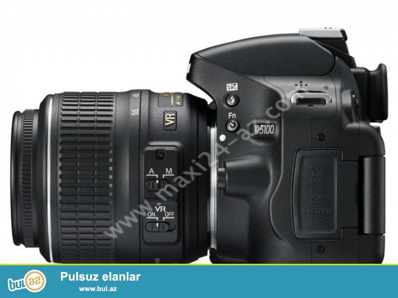 Цифровой фотоаппарат Nikon D5100 зеркальный цифровой фотоаппарат, Черный, NIKON AF-S DX NIKKOR 18-55mm f/3...