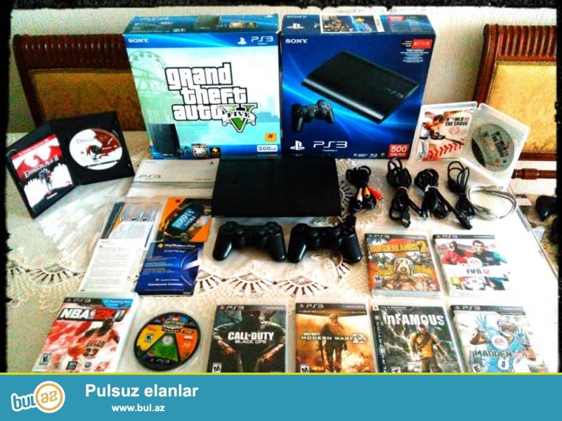Sony playstation 3 superslim GTA5 version .en son ps3 versiyayidir ,seherde bunlardan yoxdur ...