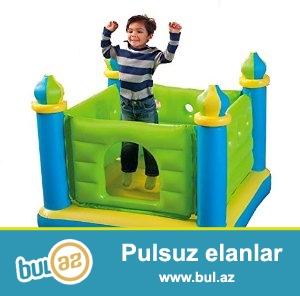 Надувной игровой центр Intex 48257  Батут-замок JUMP-O-LENE CASTLE BOUNCER<br /> Этот замок прекрасно осуществит мечту Вашего ребенка иметь свой собственный замок...