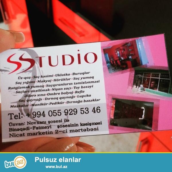 S.studio gozellik salonuna iwci qadin teeleb olunur ...