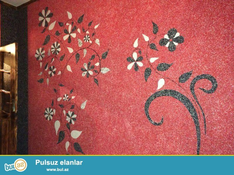 İpək tərkibli dekorativ divar suvağı (SULU OBOY) ipək liflərindən, ağac sellülozasından, dekorativ qatqılar və yapışdırıcıdan ibarət ekoloji təmiz materialdır...