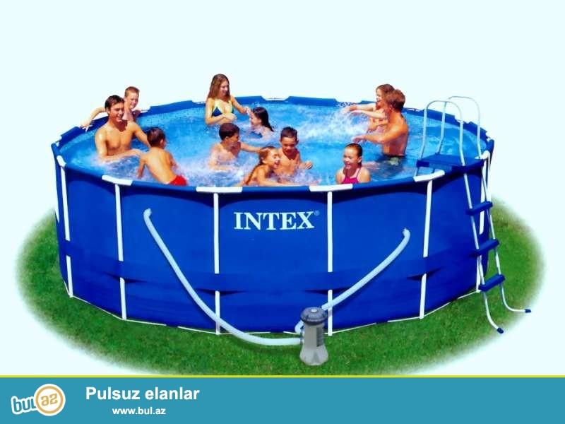 Сборный каркасный бассейн Intex Metal Frame Pool 56946 (457 х 122 см) - достаточно популярный большой бассейн для всей семьи...