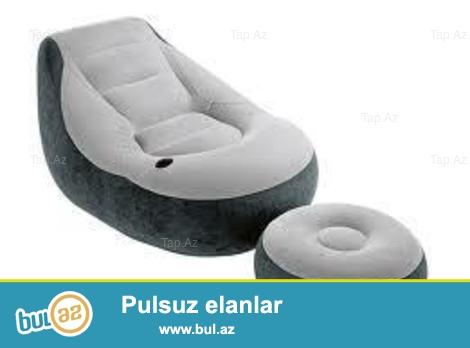 Кресло с пуфиком Intex 68564 изготовлено из водонепроницаемого материала, с помощью которого выполнена нижняя часть изделия и боковины...