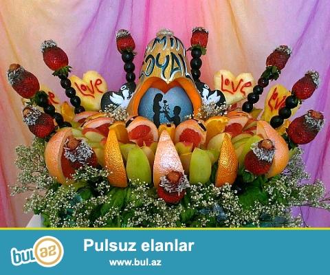 Toy, nişan, ad gunu, her meclise uygun karvingle beraber meyve dekoru.