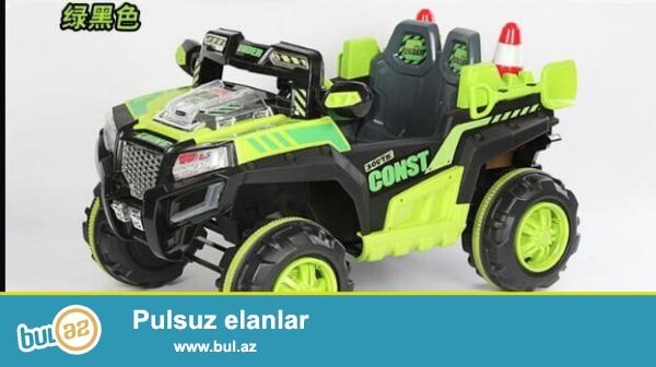 Ushaqlar ucun yeni model park mashini Jip.<br /> Iki motor,iki okumlyator...