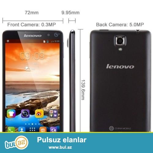 YENI.ŞƏHƏRDAXİLİ ÇATDIRILMA PULSUZ<br /> Xüsusiyyətləri:<br /> <br /> Ekran:Rəngli<br /> Brand:Lenovo<br /> Design:Bar<br /> CPU:Quad Core(4 nüvəli)<br /> Cellular:GSM/WCDMA<br /> Ekran:960x540<br /> Touch ekran tipi:Capacitive Screen<br /> Lsd növü:IPS<br /> Ekran ölçüsü:5...