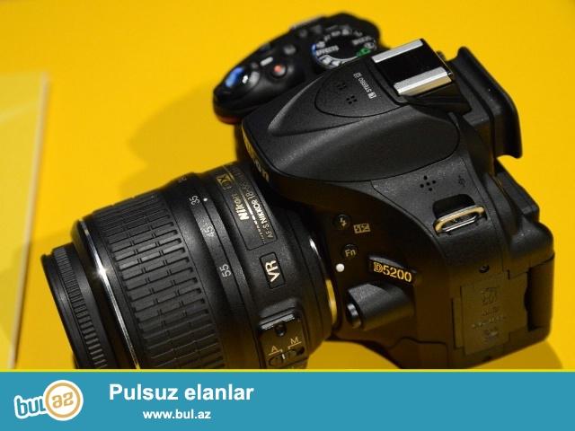 SATILIR: Nikon D5200+18-55mm (pr 1500)<br /> Tezedi kecen ayin 26si alinib <br /> 1il zemaneti var kontaktdan alinib<br /> NAIL-(070)-236-00-97