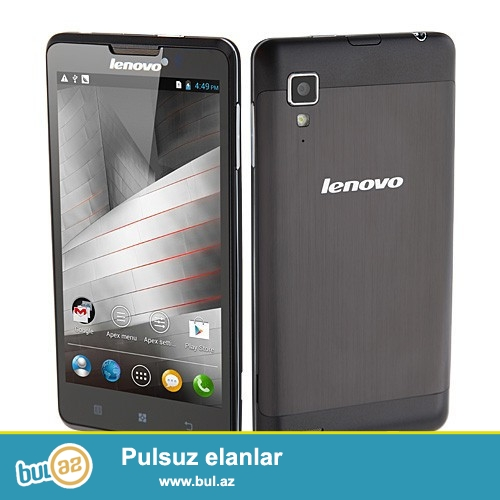 YENİ BAGLİ QUTUDA<br />     2 NOMRELİ 8MP KAMERA 1GB RAM<br />     Əsas məlumat<br />     Model Lenovo P780<br />     Band 2G: GSM 850/900/1800 / 1900MHz<br />     3G: WCDMA 2100MHz<br />     Sim Card Dual SIM Card Dual Adi<br />     Service təmin Unlocked<br />     Stil Bar<br />     Rəng Qara<br />     Shell Material Metal<br /> <br />     Sistem<br />     OS Android 4...