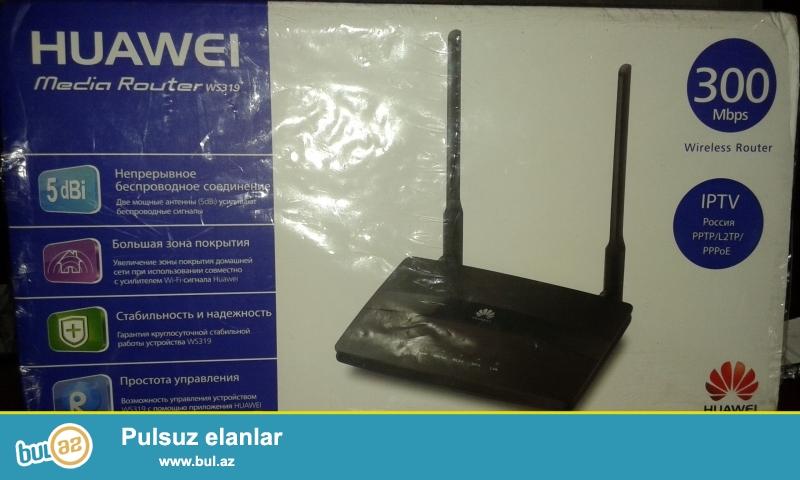 Huawei ws319 router satilir 4 portludur. Rosiyyadan gətilib...