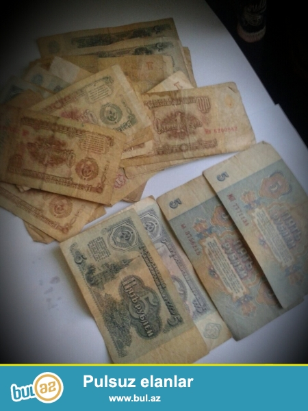KOHNE  Rus  Pullari satiram СССР   1 RUBUL  5  RUBUL  QEPIKLER