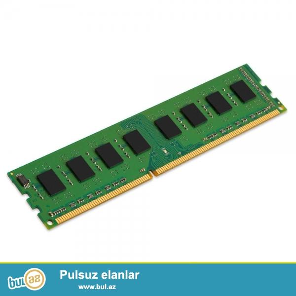 """Kompyuter uchun DDR3 ramlar 4GB (yeni) <br /> <br /> Desktop (stolustu kompyuterler) uchun ddr3 ramlar <br /> <br /> <br /> Sheher ichi chatdirilma + 2azn<br /> <br /> Rayonlarada gonderilir<br /> <br /> Elave elanlarimizi gormek uchun """"Istifadecinin butun elanlari"""" -na baxin<br /> <br /> Whatsapp: 050 227 27 55<br /> <br /> Skype: toptan..."""
