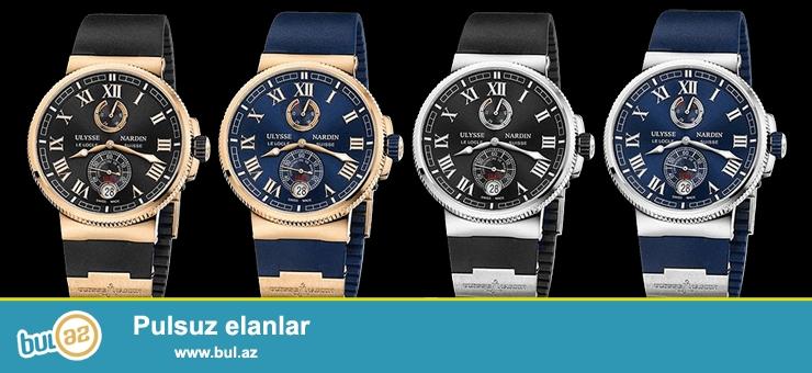 Ulysse Nardin Saatları<br /> Hər yerdə 200-500 Manat arası və daha baha satılan Ulysse Nardin saatları bizdə də Satışa çıxarılır...