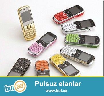 YENI 2 NÖMRƏLİ EN BALACA TELEFON.<br /> ŞƏHƏRDAXİLİ ÇATDIRILMA PULSUZ<br /> Paketə daxildir1*Telefon+1*batareya+1*kable+1*adaptor+1*qulaqcıq<br /> Məhsyl haqqında:<br /> Ekran parametrləri:1...