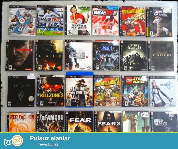 PS3 diskler  10 azn cox ucuz.ancaq seklde olan disklerdi