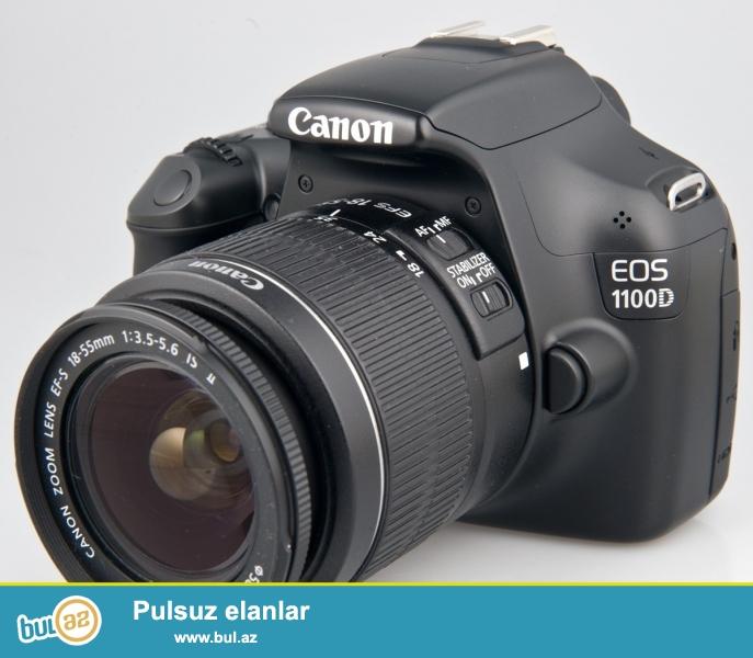 Tecili Canon 1100D satilir.Hec isledilmeyib.Ela veziyyetdedir...