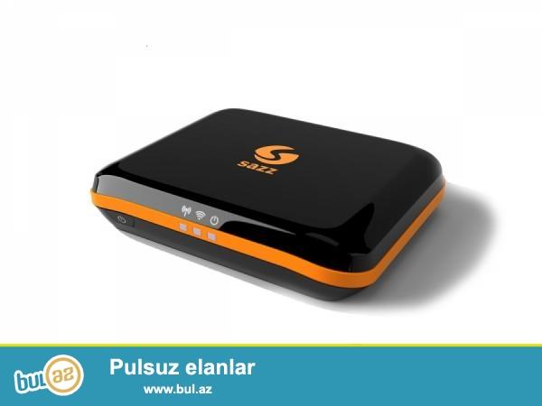 SAZZ 4G + WIFI USB ADABTORLADA ISHLEYIR ZARYADKAYLADA ISHLEYIR SADECE 1 AY ISHLEYIB...