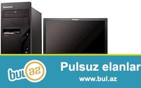 Təcili kompüter satlılır (yeni)<br /> CPU:Core2do<br /> RAM 4GB<br /> HDD 500GB<br /> Monitor LG 19<br /> Mouse + keyboard <br /> Qiymət:366AZN<br /> Tel: 0708940003<br />