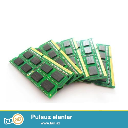 """DDR3 Ram 8GB<br /> <br /> Noutbuk uchun DDR3 ramlar 8Gb (yeni)<br /> <br /> <br /> Sheher ichi chatdirilma + 2azn<br /> <br /> Rayonlarada gonderilir<br /> <br /> Elave elanlarimizi gormek uchun """"Istifadecinin butun elanlari"""" -na baxin<br /> <br /> Whatsapp: 050 227 27 55<br /> <br /> Skype: toptan..."""