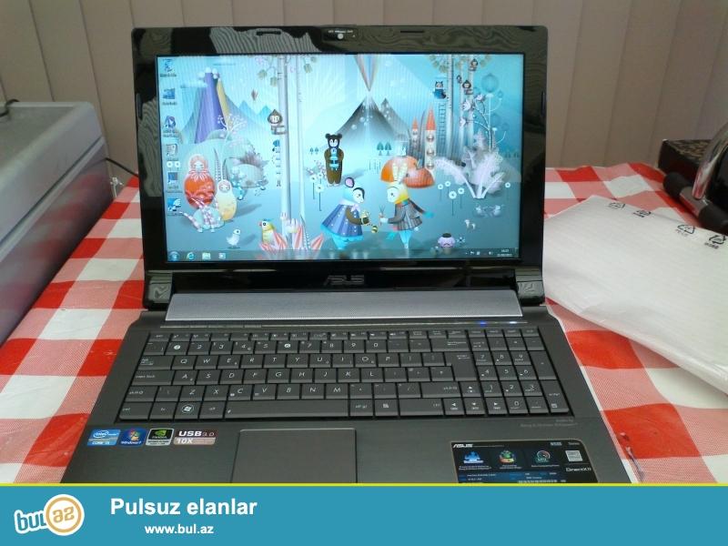 ASUS Full HD ekran iqravoy noutbuk, butun oyunlari proqramlari donmadan acir...