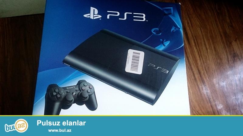Playstation-3 slim.  1 ay evde istifade olunub,upakovkadadir,1 eded cosik daxildir.